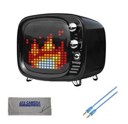 DiVoom Tivoo Retro Bluetooth Speaker Pixel Art DIY Box amp; Griffin 3ft Aux Cable $64.95