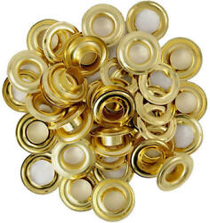 1 2quot; Brass Plated Replacement Grommets Repair Tarps Tents Set of 6 12 24 48 96 $18.64
