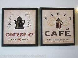 Coffee Lovers Wall Decor Signs Country Kitchen pictures Paris bistro plaques $21.94