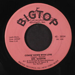 MEL GADSON: Comin' Down With Love  I'm Gettin Sentimental Over You 45 Oldies