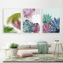 Wall Art Canvas Paintings Colorful Leaf Nordic Prints For Living Room Decoration $15.57