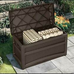 Suncast Outdoor Garden Patio Storage Chest with Handles and Seat Open Box $91.99
