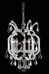 Palace Maria Theresa 5 Light Crystal Chandelier in Chrome $535.00
