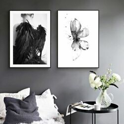 Posters Prints Wall Art Canvas Paintings Flower Butterfly Nordic Unframed Decors $23.98