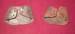 VINTAGE LEATHER SNOWSHOE TOES TIPS $8.00