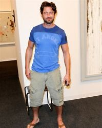 GERARD BUTLER candid photo wearing LOST ANGELES t L176