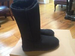 Women#x27;s Ugg Australia Classic Tall womens boots Black suede leather 6 M $120.00