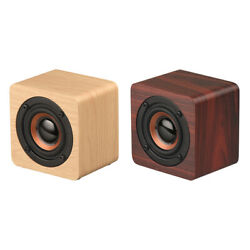 Mini Wooden Bluetooth Speaker Portable Wireless Subwoofer Stereo SoundBox Y7U5