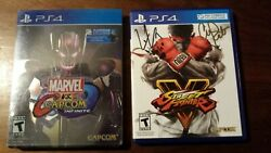 Marvel vs. Capcom Infinite Deluxe Edition & Street Fighter V SIGNED