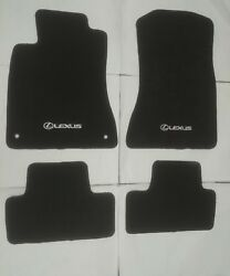 Fit 06 12 Lexus IS350 IS250 Black Nylon Floor Mats Carpet W Emblem $47.88