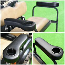 Universal Rear Seat Arm Rest Cup Holder Black for EZGO Club Car Yamaha Golf Cart $38.00