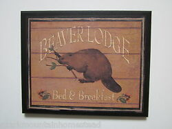 Beaver Lodge Picture Rustic Style Wall Decor country cabin sign