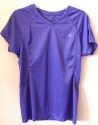 Womens SMALL Lavender Knit Top Shirt CHAMPION Poly S S Double Dry New w o Tag $14.99