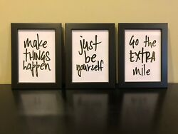 Modern Wall Art Picture Poster Home Decor inspirational quotes already framed 3j $17.00
