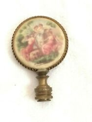 Antique Lamp Finial Victorian French Porcelain Free Shipping $64.99