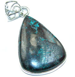 Azurite Pendant 925 Sterling Solid Silver 12g Handmade Pendants by SRStyle