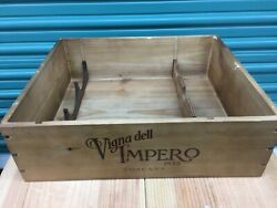 Wine Box Case Wooden Crate Holds 3750ml Vigna Dell Impero Toscana