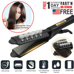 Steam Hair Straightener Ceramic Tourmaline Ionic Flat Iron Professional Glider $13.99