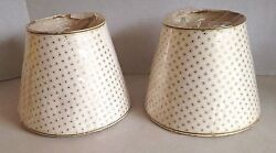 Two vintage lampshades 6 1 2quot; m $37.00