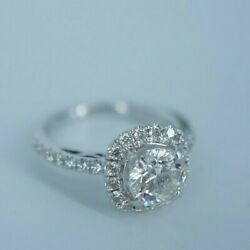 Beautiful Diamond Halo Engagement Ring