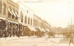 Beaver Dam Wisconsin~Front Street~Odeon~Meals Served Upstairs~Crowd~1912 RPPC