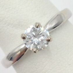 14K WHITE GOLD 0.60CT TRANSITION ROUND BRILLIANT SOLITAIRE DIAMOND RING 7.25