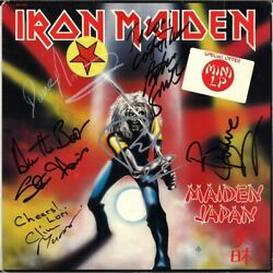IRON MAIDEN Japan FULLY SIGNED Vinyl LP Clive Burr Paul Di'Anno Murray AUTOGRAPH