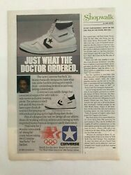 Converse Star Tech with Dr. J 1984 Vintage Print Ad $5.96