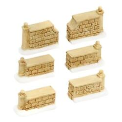 Department 56 Tudor Gardens Wall Set of 6 #4038846 FREE SHIPPING $18.99