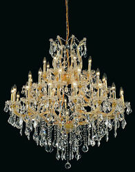 Palace Emperor 37 Light Maria Theresa Crystal Chandelier light Gold fixture $3,520.00