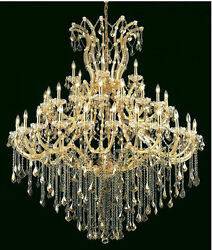 Palace Maria Theresa 49 Light Golden Teak Crystal Chandelier light in Gold 60x72 $6,685.00