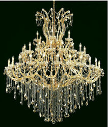 Palace Maria Theresa 49 Light Golden Teak Crystal Chandelier light in Gold 60x72