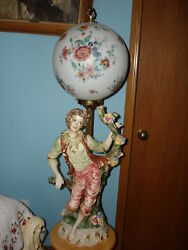 VINTAGE UNIQUE ELECTRIC GLOBE BALL TABLE DESK NIGHT LAMPS BOY 38