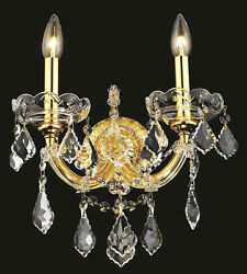 Palace Maria Theresa 2 Light Crystal chandelier Wall Light Wall sconce gold $195.00