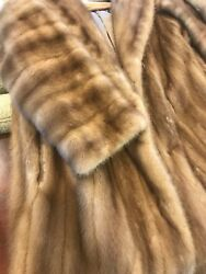 Tan Sable MINK COAT Shawl Collar Stroller M-1X Must buy! Spring SALE!!!