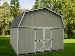 Little Cottage Company Classic Gambrel Wooden Storage Shed