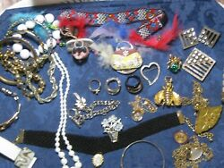 J 7 antique and vintage jewelry lot fine  20++  items wearable