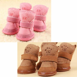 Warm Winter Pet Dog Boots Puppy Shoes For Small Dog $9.99
