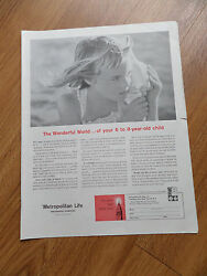 1959 Metropolitan Life Insurance Ad Wonderful World of your 6 to 8 Year Old Chil