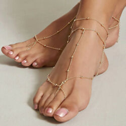 1Pcs Anklet Women's Multilayer Chain Anklet Barefoot Sandal Beach Foot Jewelry