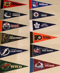 NEW NHL Hockey Teams Mini Pennants 4