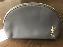 Yves Saint Laurent Designer Black Cosmetic Makeup Bag Brand New
