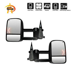 For L+R 03-06 Chevy Silverado Sierra Power Heated Arrow Lights Towing Mirrors