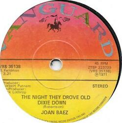 """JOAN BAEZ  The Night They Drove Old Dixie Down 7"""""""