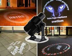 US 40W Outdoor Black Desktop Mountable LED Gobo Projector Advertising Logo Light $193.43