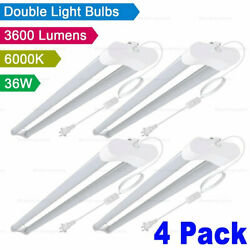 4x Westernpowers 36W LED Shop Light Fixture Work Garage Light 6000K White 4FT $50.00