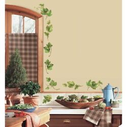 38 New Evergreen Ivy Wall Decals Country Kitchen Decor Green Leaves Border Vines $15.99