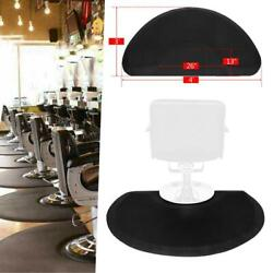 Anti-Fatigue Salon Mat 4'x3' Semicircle BLACK Half Inch Thickness for Barbershop $32.99