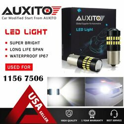 2X AUXITO 1156 7506 1141 Backup Reverse Light LED 48smd High Power White  Bulb A $12.59