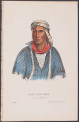 McKenney & Hall - Kee-She-Waa. 211 - 1870 History of the Indian Tribes...
